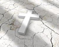 Croix blanche (3d) Photographie stock libre de droits