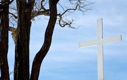 Croix blanche Photos libres de droits