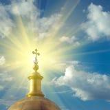 Croix brillante Images libres de droits