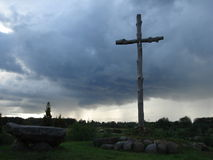 Croix catholique Photographie stock libre de droits