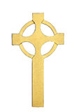Croix celtique d'or Images stock