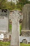 Croix celtique de cimetière Photographie stock libre de droits