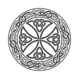 Croix celtique de vecteur Ornement ethnique Dessin géométrique Photos libres de droits