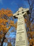 Croix celtique - monument irlandais de famine Image libre de droits