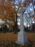 Croix celtique - monument irlandais de famine Images stock
