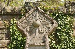 Croix celtique rosicrucian de cimetière Photo stock