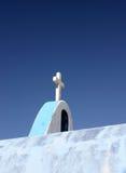 Croix chrétienne de chapelle photo libre de droits