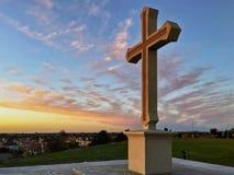 Croix chrétienne, foi de concept, religion, spiritualité, amour Images stock