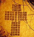 Croix chrétienne grunge Image libre de droits