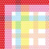 Croix colorée douce blanche de modèle de point de polka de cercle barrée de retour Photos libres de droits