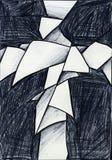 Croix courbée illustration stock