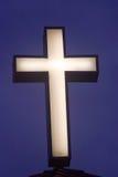 Croix crépusculaire Photos libres de droits
