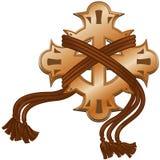 Croix décorative avec des cordons Illustration Libre de Droits