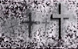 Croix découpées dans le mur illustration de vecteur