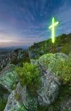 Croix d'éclairage Photo stock