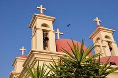 Croix d'église de Capernaum. Image libre de droits