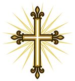 Croix d'or illustration stock