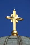 Croix d'or Photographie stock libre de droits
