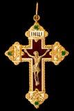 Croix d'or chrétienne Photographie stock