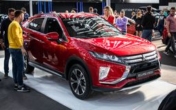 Croix d'?clipse de Mitsubishi sur le cinquante-quatri?me Salon international de voiture et d'Automobile de Belgrade photo stock