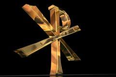Croix d'or de Pax Christi Image stock