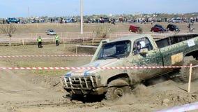Croix d'essai 4x4 de jeep de Moldau Ohei Photos libres de droits