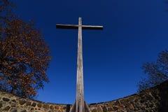 Croix dans l'endroit d'échafaudage Image libre de droits