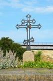 Croix dans la forteresse Oreshek Photographie stock