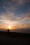 Croix, dans le cap de Roca Image libre de droits