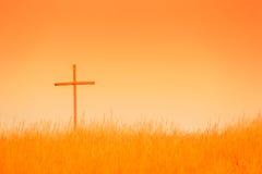 Croix dans le domaine Photos stock