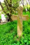 Croix dans le monastère d'Arbore, Moldavie, Roumanie Photo stock