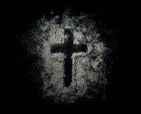 Croix dans les cendres Photo libre de droits
