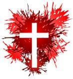Croix dans les endroits illustration de vecteur