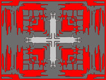 Croix dans une illusion optique Photographie stock libre de droits