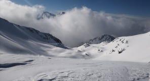 Croix de Chamrousse. Mountain winter peak Stock Photo