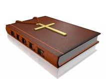 Croix de chapelet de bible Photographie stock libre de droits