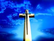 Croix de ciel Photo libre de droits