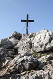 Croix de crête de montagne Photographie stock