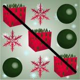Croix de criss de cadeau de Noël Photographie stock