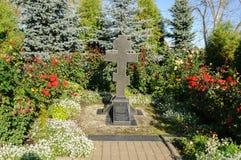 Croix de culte dans le monastère de Zverin Photo stock