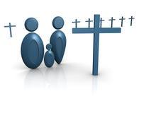 Croix de famille de graphisme Images stock