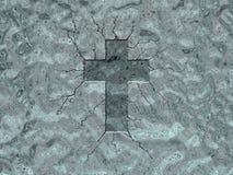 Croix de glace Photographie stock libre de droits