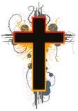 Croix de grunge de couleur Images libres de droits