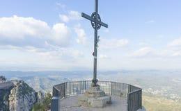 Croix de Jésus-Christ Pâques, concept de résurrection Fer chrétien photographie stock libre de droits