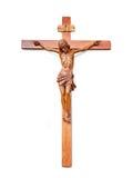 Croix de Jésus d'isolement sur le blanc Photo libre de droits