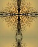 Croix de kaléidoscope : arbre de matin Photographie stock