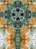 Croix de kaléidoscope, couches de chert Images stock