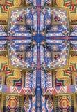 croix de kaléidoscope : détail peint de plafond Image libre de droits
