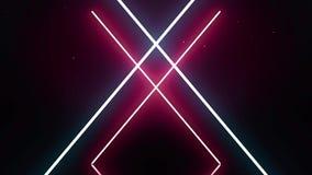 Croix de laser avec le mouvement synchrone des lignes Effet de la lumière de fusée illustration libre de droits