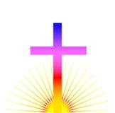 Croix de lever de soleil Photos stock